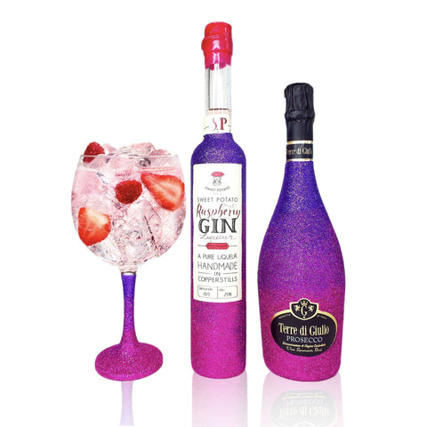 Raspberry Gin-cocktailset inclusief 70cl Prosecco & Gin Glass