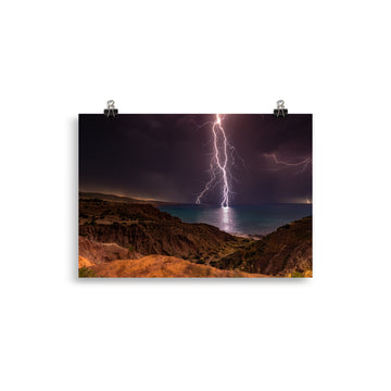 Sellicks Beach Lightning Poster