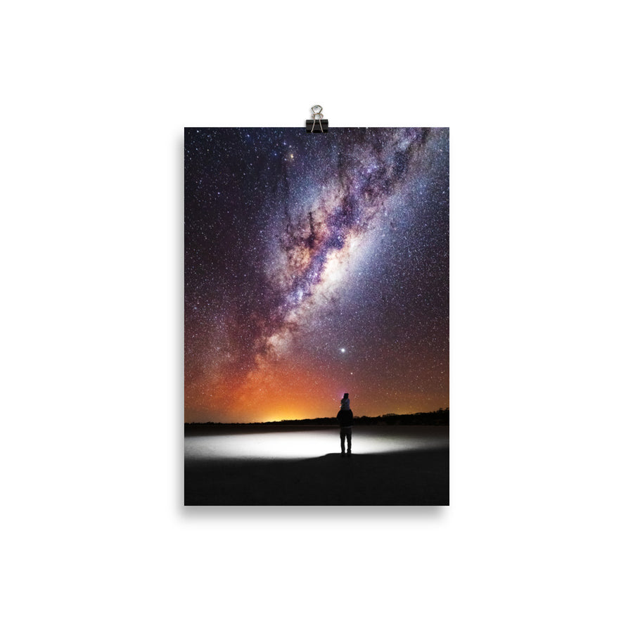 Daughter & Dad Under the stars on the Eyre Peninsula Poster