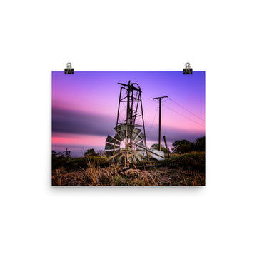 Windmill Photo paper poster