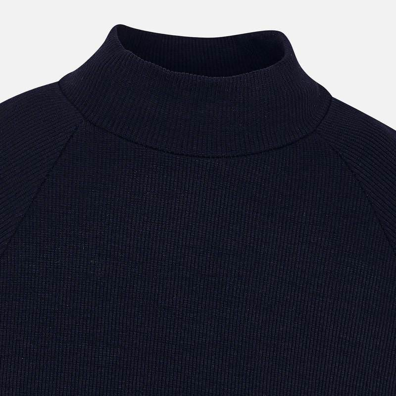 Mayoral Basic ribbing mockneck sweater
