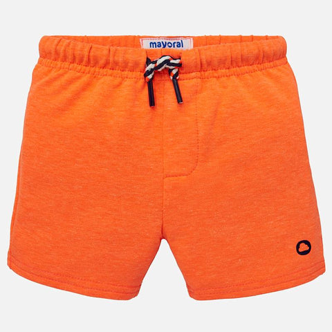 Fleece short oranje