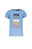Like Flo - Lichtblauw T-shirt 'row row row the boat'