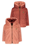 Flo baby girls reversible hooded fur jacket
