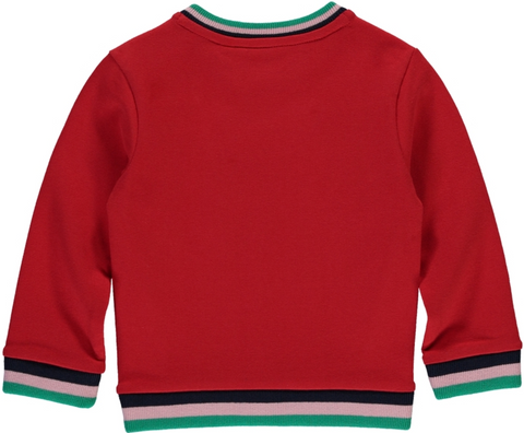 Quapi sweater Happy rood