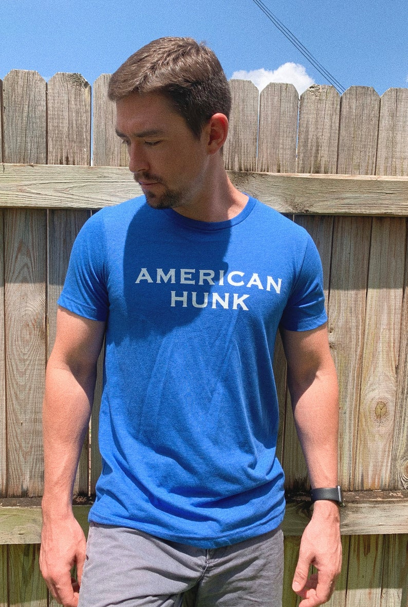 Celebrate 4th of July in our super soft matching American Hunk and USA BABE tees! Perfect matching Fourth of July shirts for all your holiday festivities!
