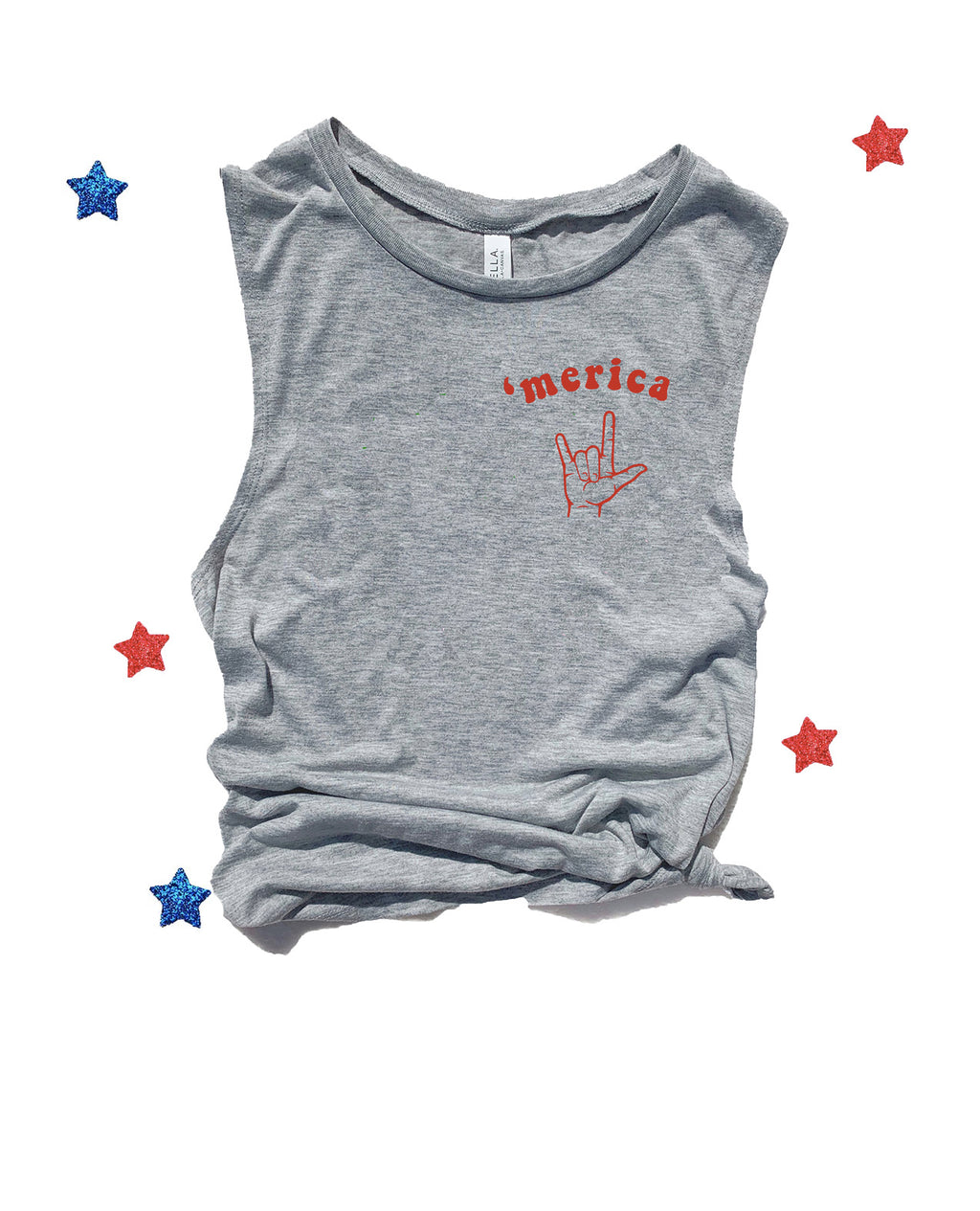 Our super cute 4th of July tank top is the perfect patriotic shirt for all your 4th of July festivities! Support your love for America with this cute 4th of July tank!