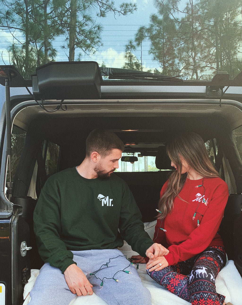 Rock these cute MR and MRS sweatshirts all season long! Rock these cute MR and MRS sweatshirts all season long!