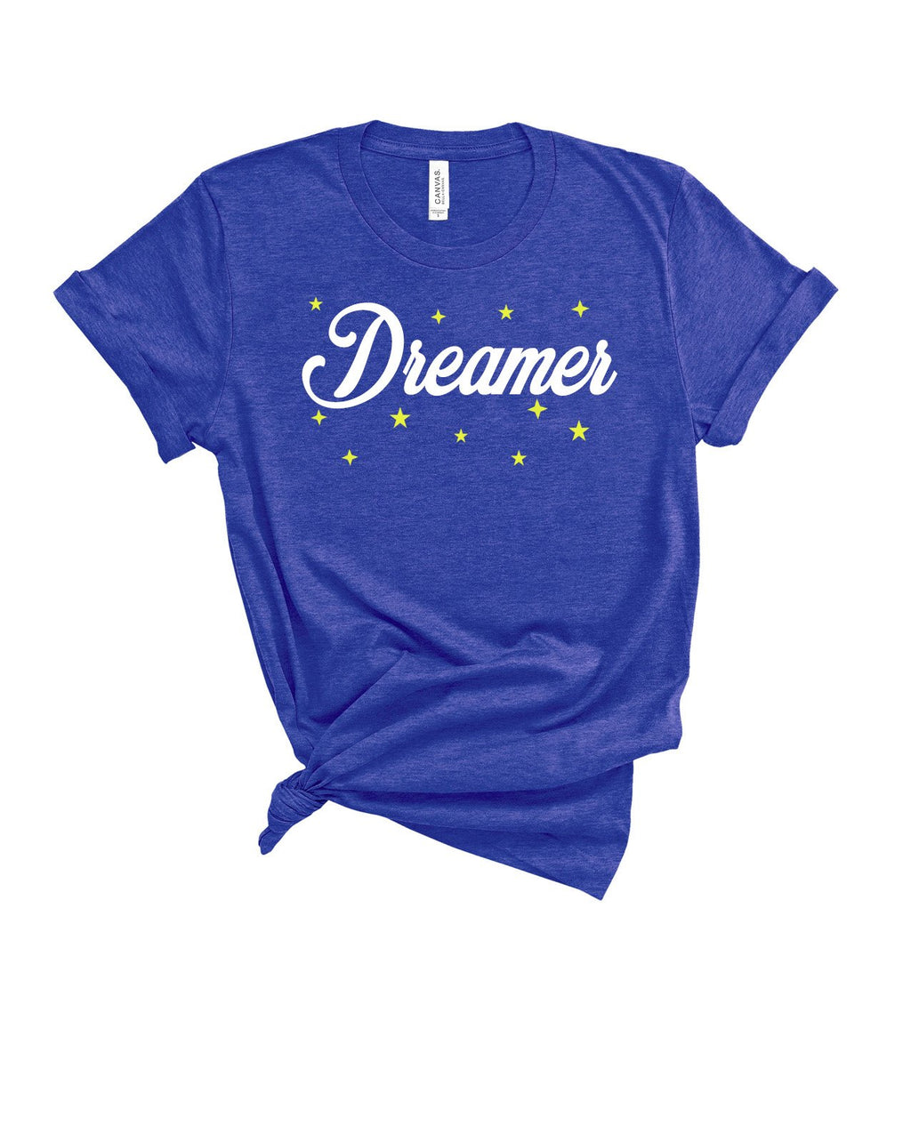 This cute Dreamer tee is perfect to let everyone know that you're all about the positive vibes! This motivational shirt is a great inspirational tee to spread positivity and love! Always remember, DREAM BIG!