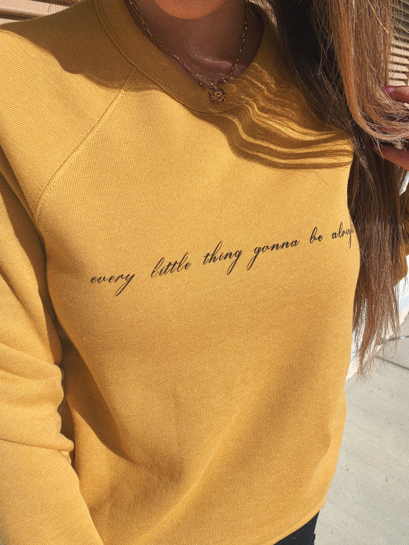 This Every Little Thing Gonna Be Alright sweatshirt is perfect to spread some peace and joy! Bob Marley couldn't have said it any better.