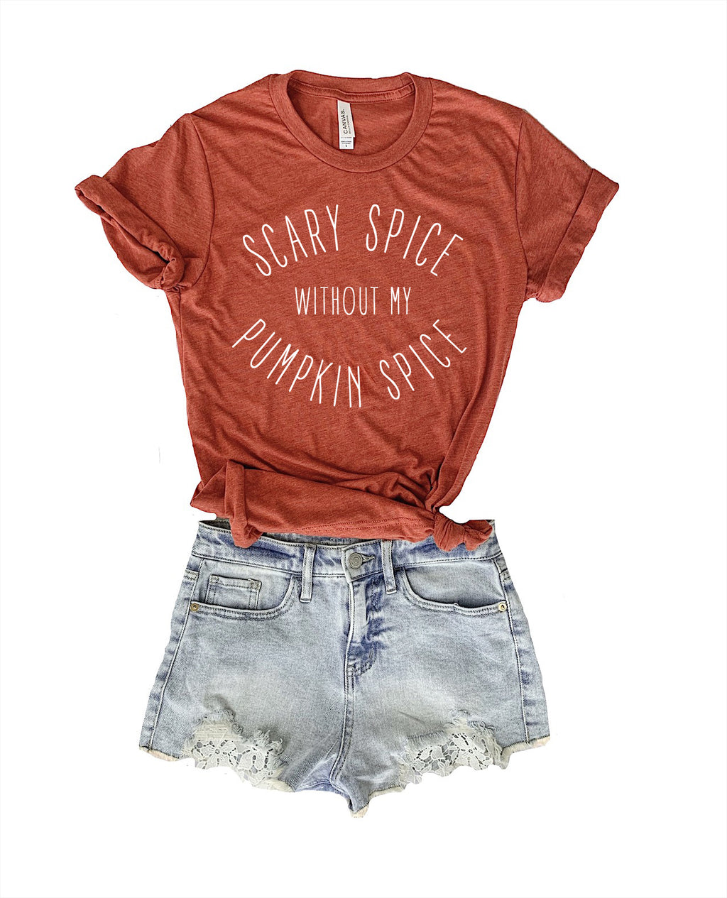 'Tis the season for pumpkin spice! The perfect pumpkin spice to shirt to add to your fall outfit!