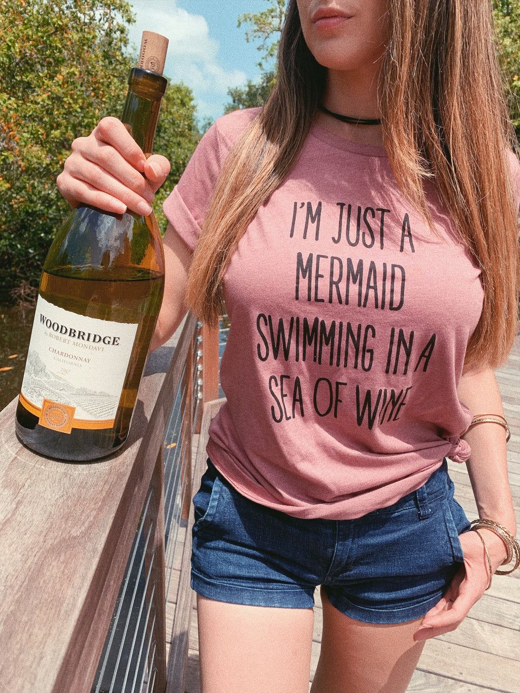 I'M JUST A MERMAID SWIMMING IN A SEA OF WINE