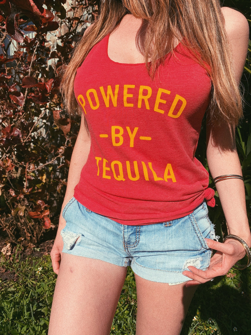 Fiesta hard in this funny women's tequila shirt! Perfect Cinco De Mayo shirt or your bachelorette party! This Powered By Tequila shirt is perfect to show your love for tequila!