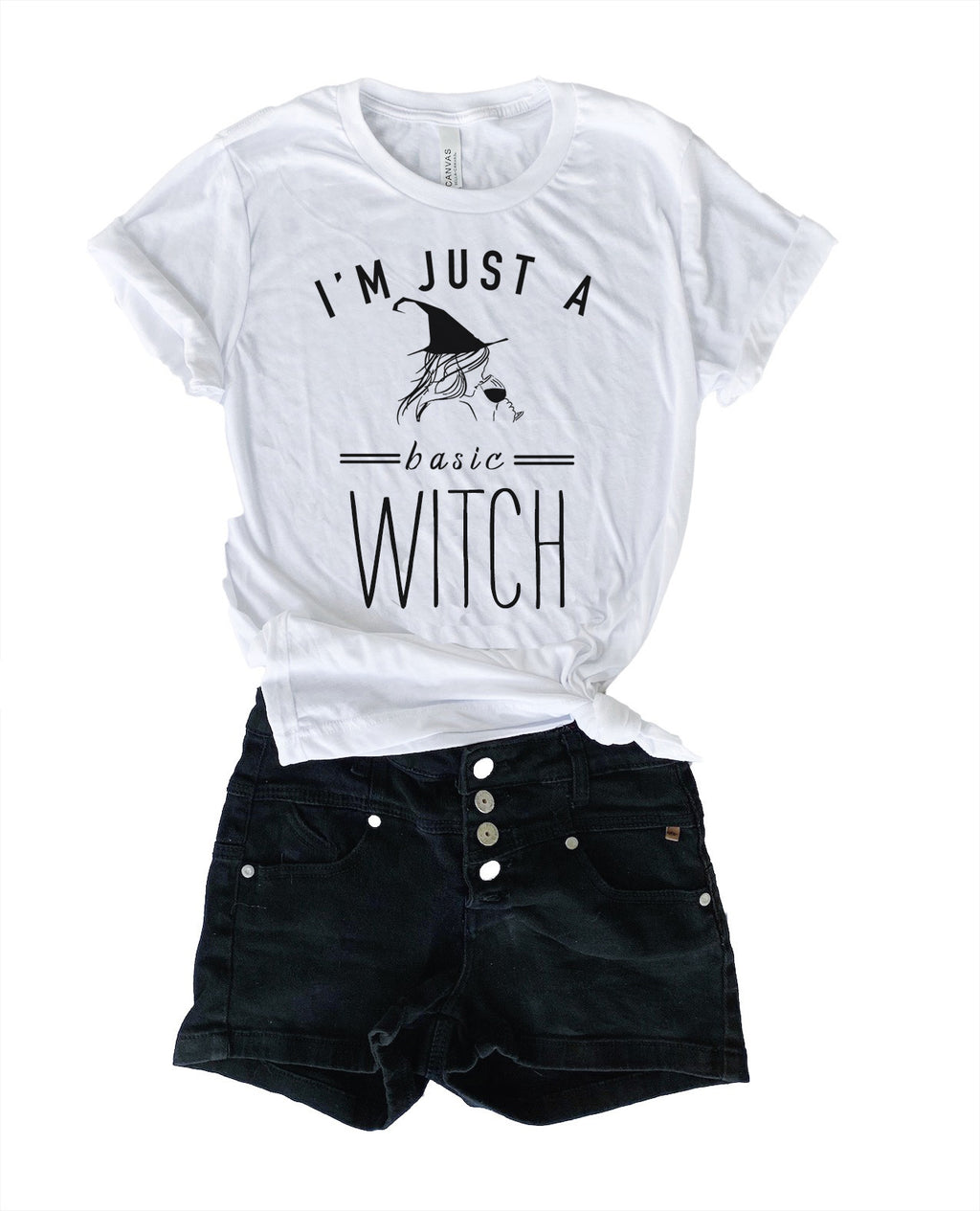 Be sure to get some laughs this year wearing our original Basic Witch design screen printed on our super duper soft and cozy unisex tee! So grab a glass of wine and enjoy being a Basic Witch this Halloween!