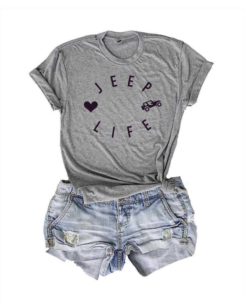 Show your love for Jeeps in this super cute women's jeep shirt! This super soft and comfy Jeep tshirt is the perfect gift for a Jeep lover in your life or for yourself!
