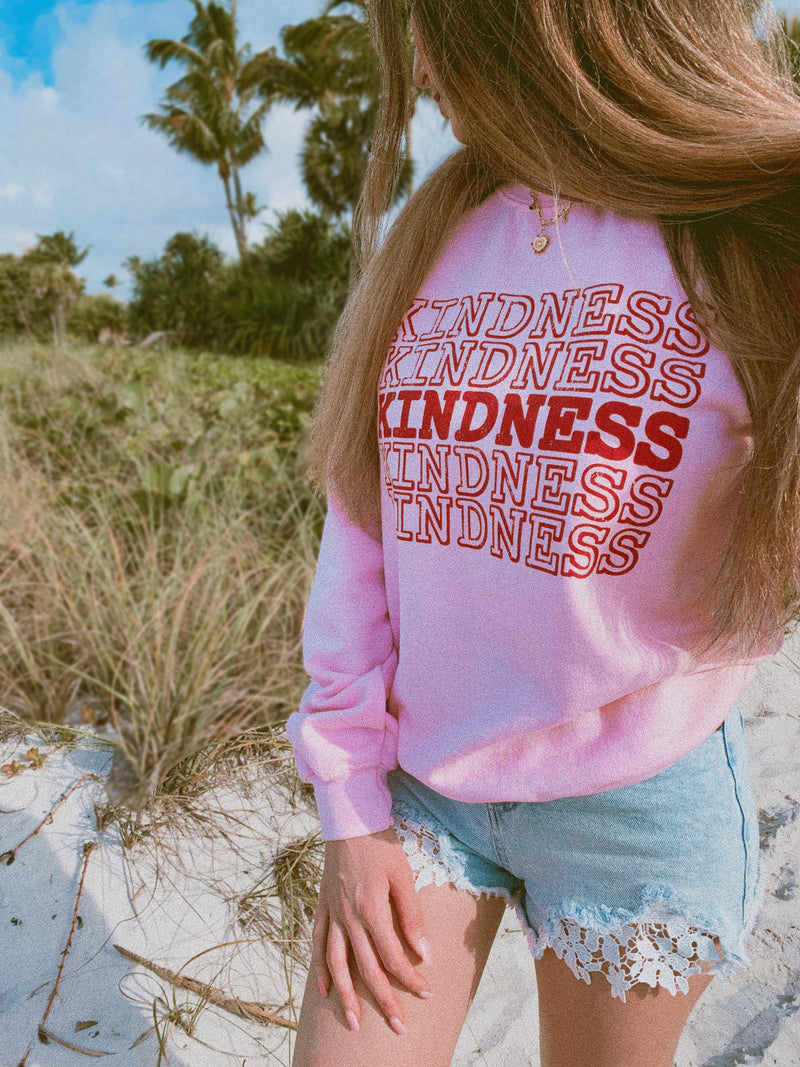 This cute Kindness sweatshirt is perfect to let everyone know that you're all about the positive vibes! Always remember that Kindness is EVERYTHING.