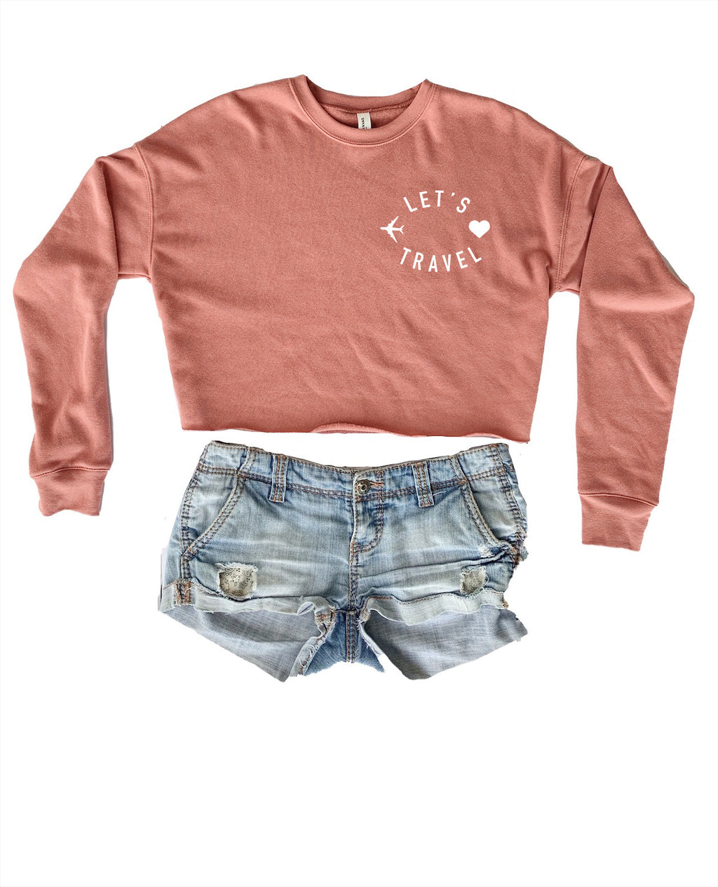 Travel the world in our soft travel sweatshirt! Wear this cute women's travel cropped sweater on your next vacation! Whether you're traveling out of the country or going on a road trip, this tee is perfect to be comfy and cozy!