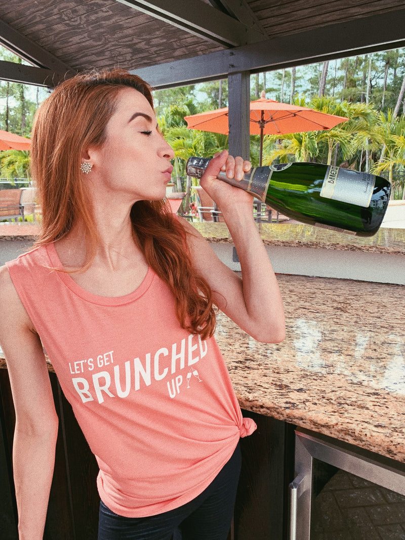 Add this cute women's brunch shirt to your Sunday Funday collection.Perfect ladies drinking shirt to wear while you're sipping a mimosa, champagne or bloody mary. Enjoy this tee with your best friends on a girls day out!