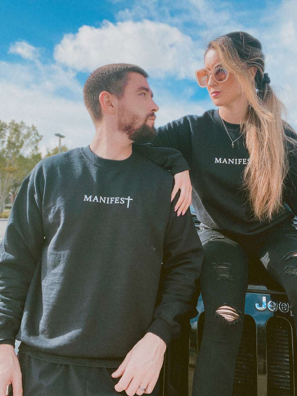 Manifest with your loved one in these cute matching manifest sweatshirts!