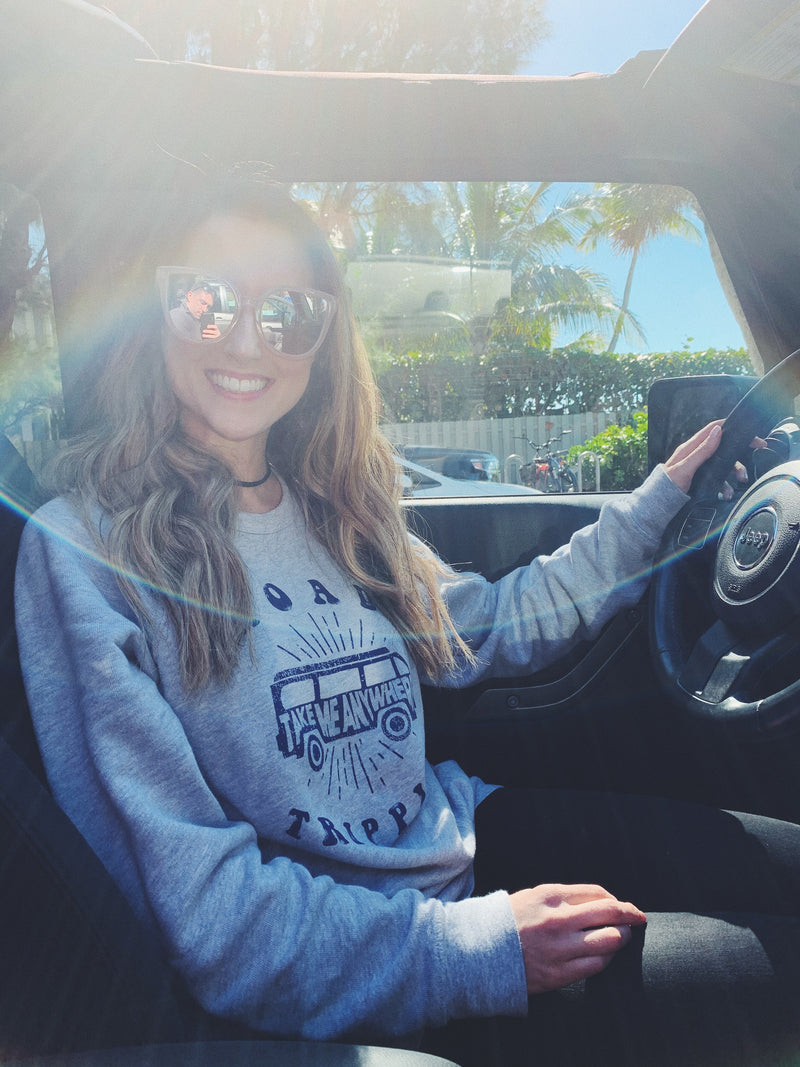 cute road trip sweatshirt! This cute women's travel sweatshirt is perfect to wear on your next vacation! Enjoy that road trip whether it's across the country or within the state, this tee is perfect to be comfy and cozy!  Edit alt text