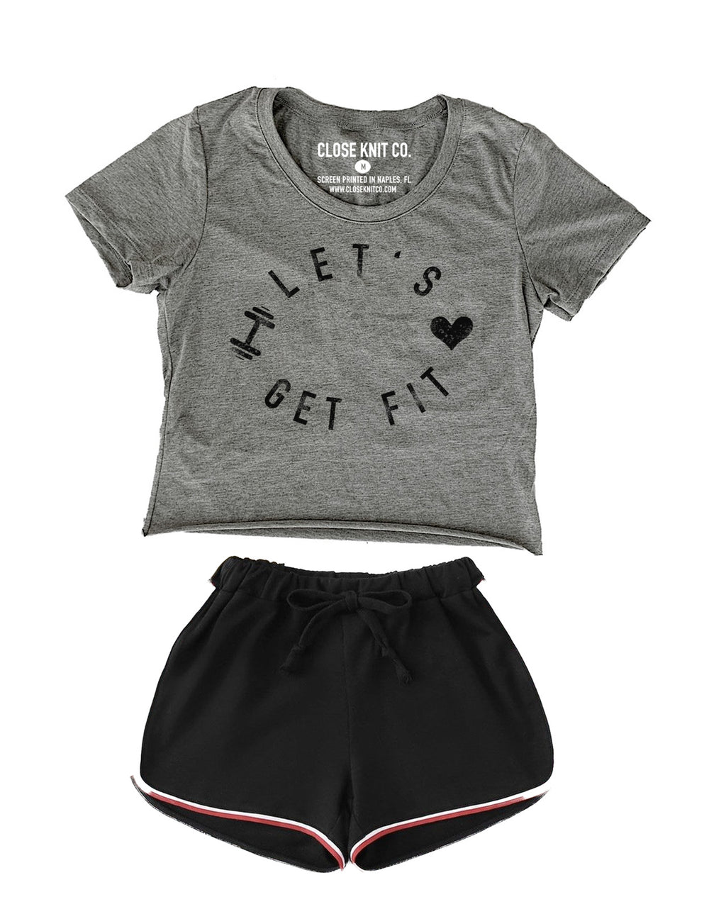 LET'S GET FIT CROP TOP