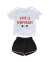 PAIN IS TEMPORARY CROP TOP