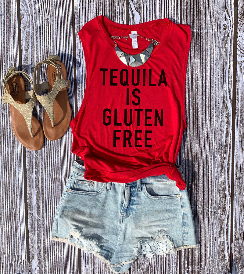 So good to know that Tequila is Gluten Free! Now we can party it up with this  perfect Cinco De Mayo tank top! This Tequila is Gluten Free shirt is perfect to show your love for tequila!