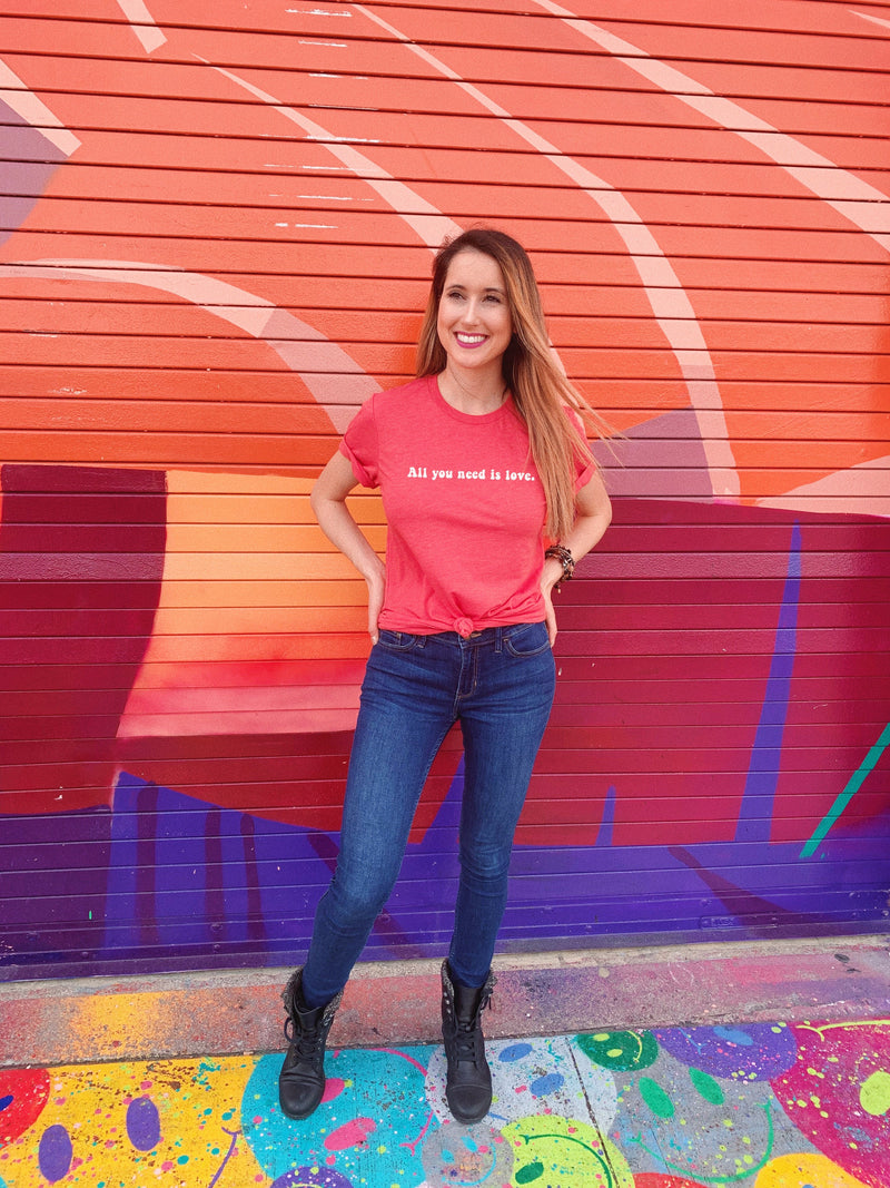 Sometimes, all you need is love. Wear this cute Valentine's Day shirt to spread a little love and positivity to everyone around you!