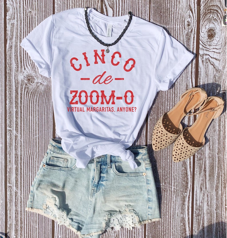 Enjoy all the Tacos and Tequila while you stay at home this Cinco De Mayo! Rock this funny drinking shirt on your next Taco Tuesday adventures with your besties whether it's on zoom or FaceTime!