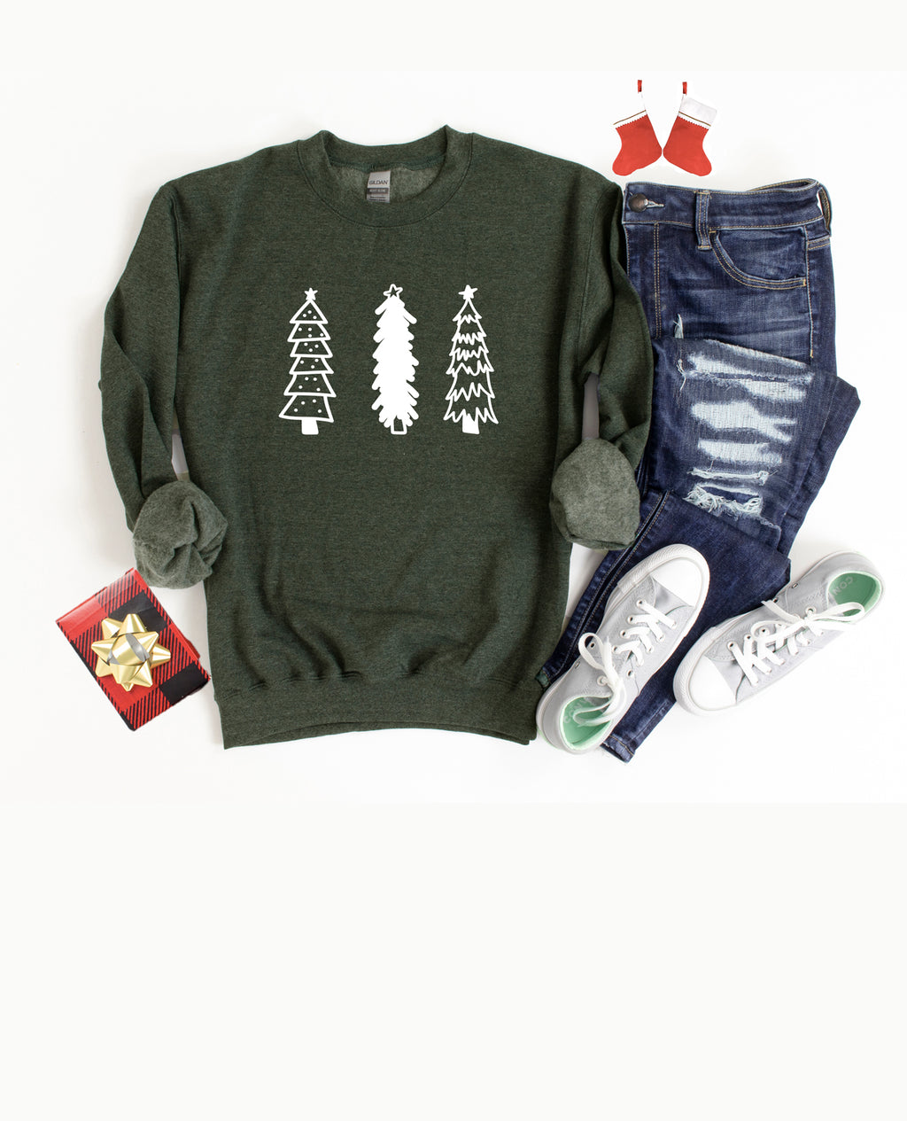 Be Merry this holiday season in our cute and cozy sweatshirt!