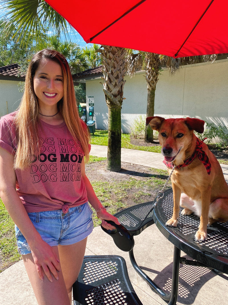 Show your love for your pup with this cute dog mom shirt for women! Let the world know you're rocking that dog mom life!