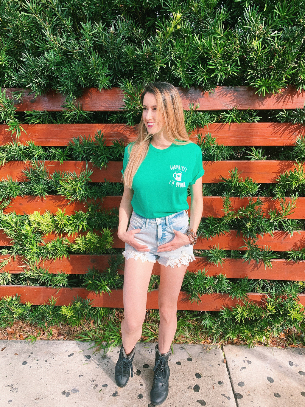 Surprise everyone this St. Patrick's Day and let them know that you ARE indeed a little drunk! This funny St. Patrick's Day shirt is a great shirt to show that not only are you there to have a good time but you're also ready to get shamrocked.... ( if you're not already!)