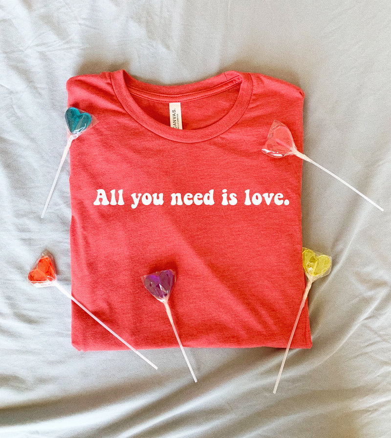 Sometimes, all you need is love. This motivational shirt for women is perfect to spread a little happiness and motivation wherever you go!