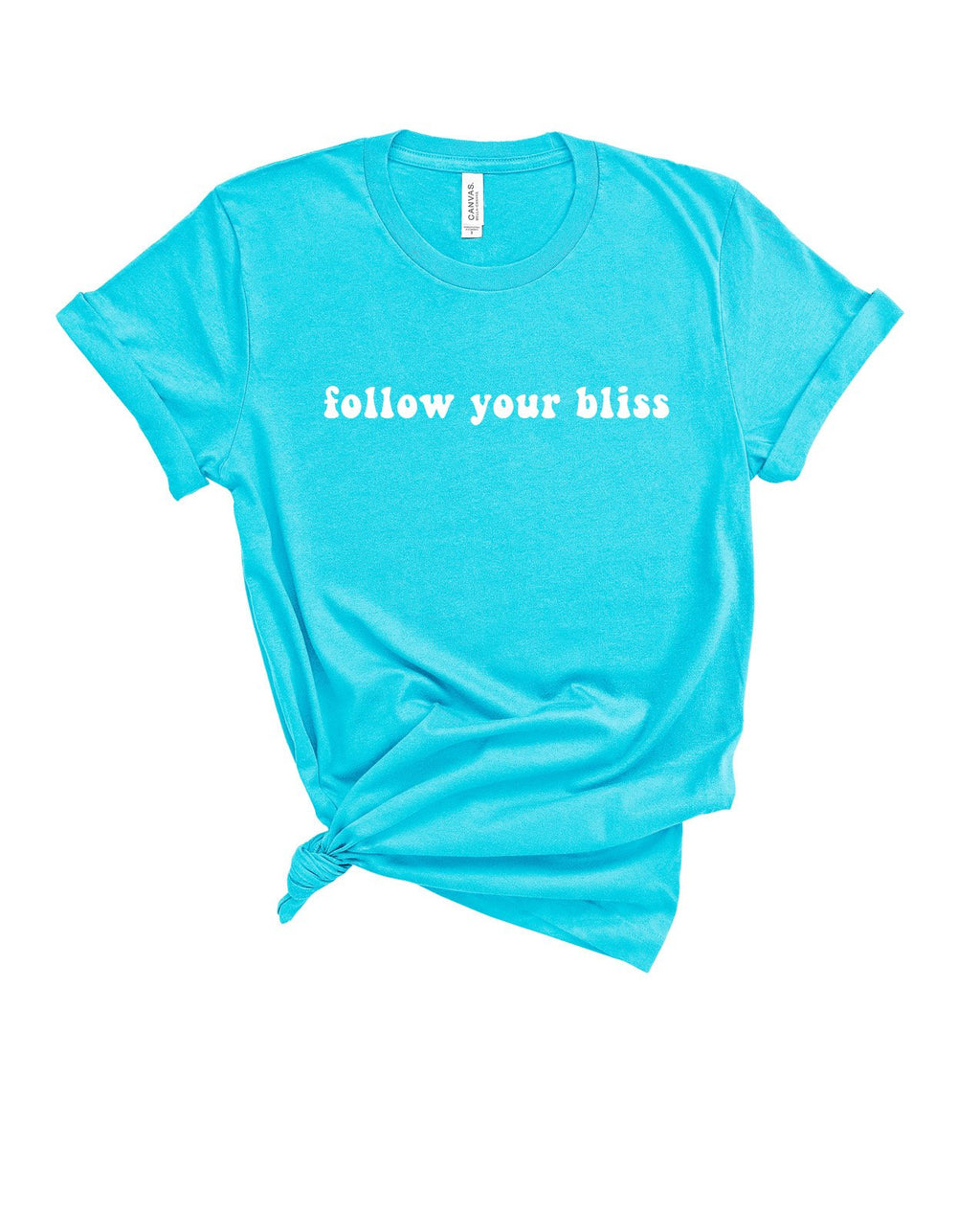 This cute motivational shirt for women is perfect as a reminder to follow your bliss and the Universe will open door where there were only walls.