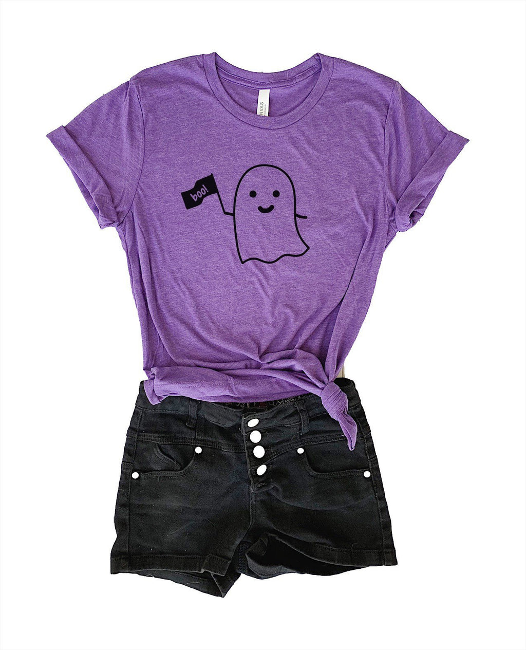Show your love for ghosts this Halloween in this super soft Halloween tee! May your day be very spooky!