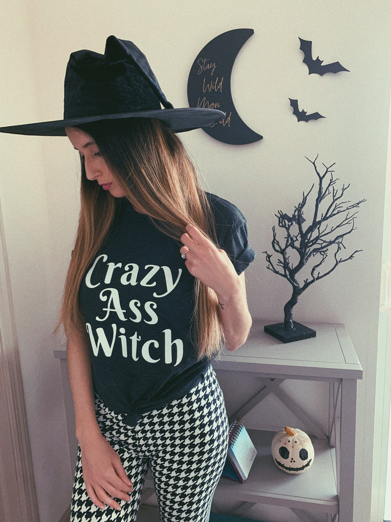 Be sure to get some laughs this year wearing our original Basic Witch design screen printed on our super duper soft and cozy unisex tee! So grab a glass of wine and enjoy being a Basic Witch this Halloween!  Edit alt text