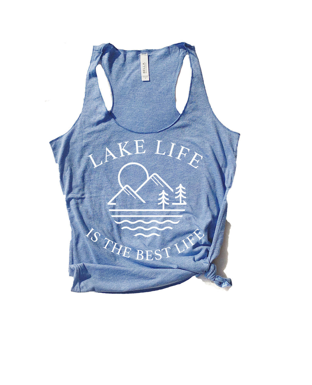 Relax on the lake this summer in our super soft Lake Life tank top! Perfect for any lake lover, whether it's for a weekend trip or a family vacation this is the perfect lake life tee!