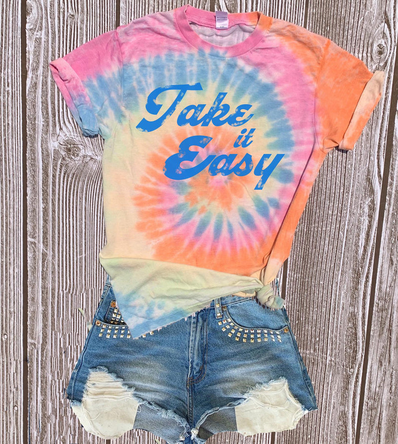TAKE IT EASY TIE DYE TEE