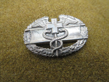 "Load image into Gallery viewer, WW2 US Army ""Combat Medic"" Sterling Silver Medics Badge"