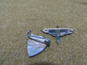 WW2 Rare Theater Made CBI DI Pin with Officers collar Pin