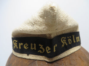 WW2 German Childs KM hat Kreuzer Koln Nicely marked orginal