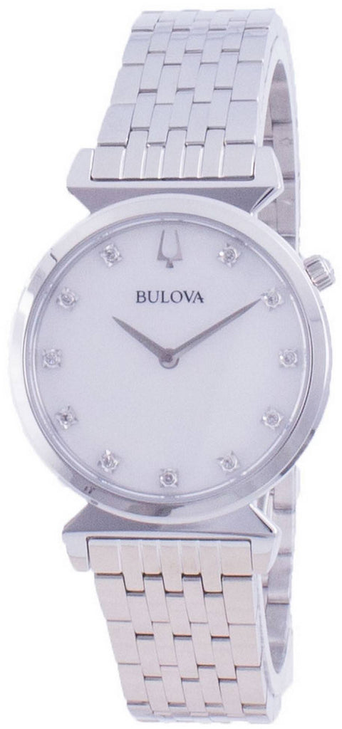 Bulova Classic Diamond Accents Quartz 96p216 Women's Watch