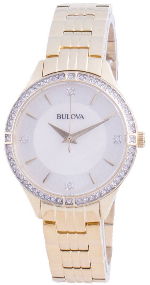 Bulova Diamond Accents Quartz 98l274 Women's Watch