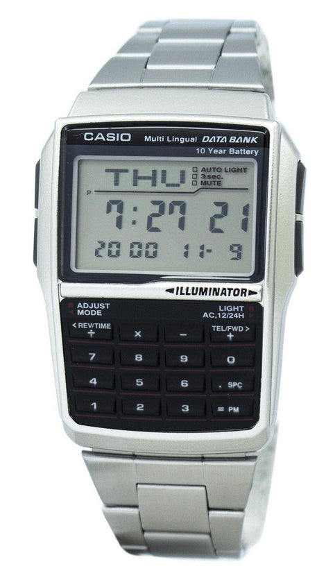 Casio Youth Digital Data Bank 5 Alarm Multi-lingual Dbc-32d-1adf Dbc-32d-1 Men's Watch