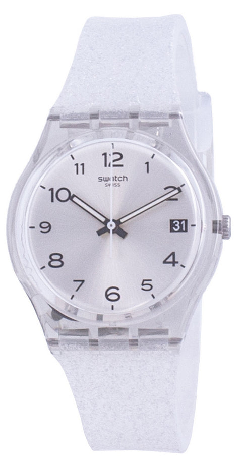Swatch Silverblush Silver Dial Silicone Strap Quartz Gm416c Men's Watch
