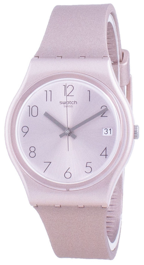 Swatch Pinkbaya Rose Gold Tone Dial Quartz Gp403 Men's Watch
