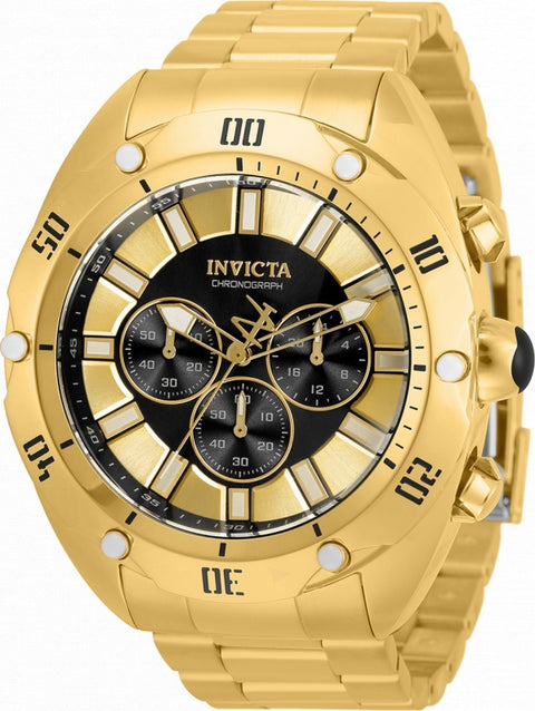 Invicta Venom Chronograph Black Dial Quartz 33744 100m Men's Watch