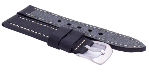 Ratio Ms9 Black Leather Strap 22mm