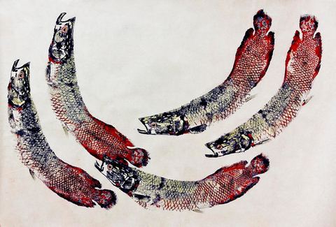 Figure 4.  A gyotaku fish print produced by Peruvian artists after the training workshop organized by the San Antonio Zoo.