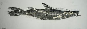 Gyotaku Fish Print 3 - Catfish (17.5 x 6 in.)